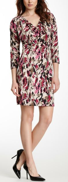 Cowl Neck Printed Dress absolutely gorgeous