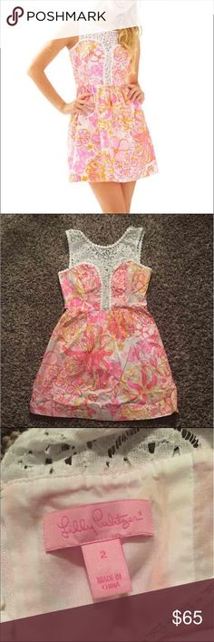 Lilly Pulitzer Raegan Dress - Sz 2 EEEUC Price firm because of PM selling fee :) no trades - sorry! Lilly Pulitzer Dresses Mini