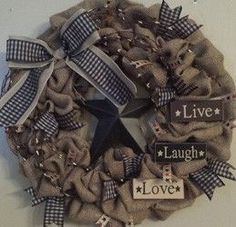 Make our Primitive Inspired Burlap Wreath to add an Americana accent to your home decor. Find all of the supplies at your nearest Pat Catan's store.