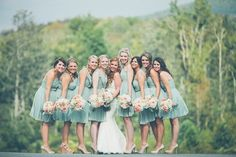 Cute photo opp. with the bride and bridesmaids.