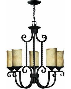 Hinkley Lighting Hinkley Lighting 4015OL Wrought Iron Chandelier Olde Black from 1-800Lighting | BHG.com Shop