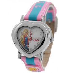 NATURAL Pink Band PNP Shiny Silver Watchcase Stylish Quartz Kids Watch KW052C