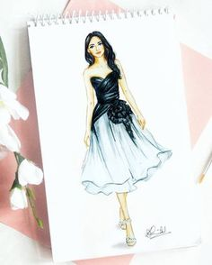 15 ideas fashion ilustration croquis art for 2019 Dress Design Drawing, Dress Design Sketches, Fashion Design Sketchbook, Dress Drawing, Fashion Design Drawings, Fashion Sketches, Dress Illustration, Fashion Illustration Dresses, Fashion Illustrations