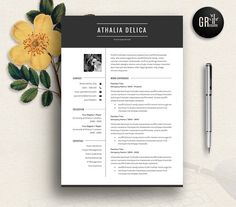 Resume Template | CV Template - 08 by GResume on @creativemarket