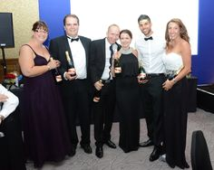 Our 2014 Gala organisers receiving bottles of champagne for arranging our successful evening!