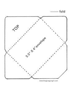 Envelopetemplate by thegluegungirl on DeviantArt Envelope Template Printable, Envelope Pattern, Envelope Art, Paper Crafts Origami, Diy Paper, Pen Pal Letters, How To Make An Envelope, Card Making, Lettering