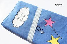 """Housse livret de famille """"la tête dans les étoiles"""" - pochette de rangement livret de famille - protection livret de famille  : Etuis, mini ..."""