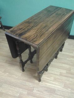 Gift for Mom Late 1800 - early 1900's Walnut Wooden Gate-Leg Kitchen Dinning Room Table Two drop Leaf's and Three Drop in Leaf's, Nine Leg's by TheRustyBucketVT on Etsy