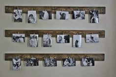 These are such fantastic ideas for hanging family pictures! I love a good family… These are such fantastic ideas for hanging family pictures! I love a good family… Decorate with pictures: IHome Gallery Wall. How toDIY Gallery Wall Hanging Family Pictures, Hanging Photos, Ideas For Hanging Pictures, Family Picture Walls, Hanging Polaroids, Polaroid Display, Photo Hanging, Porte Photo Mural, Cheap Wedding Gifts
