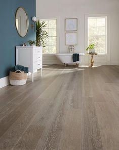 Hardwood Floor Stain Colors, Grey Hardwood Floors, Engineered Hardwood Flooring, Grey Flooring, Flooring Ideas, Laminate Flooring, Vinyl Flooring, Home Flooring, Best Flooring For Kitchen