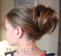Beginner Hairstyles--Great for girls learning to do their own hair!