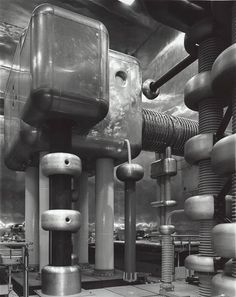 Smashing Places Ina new book called Time Machines, photographer Stanley Greenberg looks at the machinery of high-energy physics through stark black and white photography. Is this the future? (via SciArts) Fiona Banner, Particle Accelerator, Physics Research, Large Hadron Collider, Physics Experiments, Machine Image, Black N White Images, Black White, High Energy