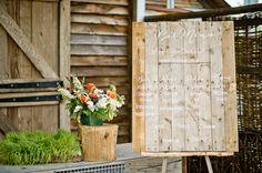 Romantic Terrain Wedding | Wood Pallet Bar Menu Sign