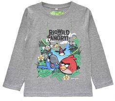 Boys' Angry Birds Rio Long Sleeve T-Shirt - Grey  #shoppingonline #fashion #Oasislync #fashionstyle #onlinestore #instagram #clothes #shopping #shoppingday #canadaonline