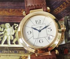 """""""Preserved Art Forms!"""" Cartier 38mm Pasha 18k Yellow Gold ($8,749.00 USD) http://www.elementintime.com/Cartier-Pasha-38mm-18k-Yellow-Gold-Silver-Dial-Automatic-Blue-Hands-Preowned"""