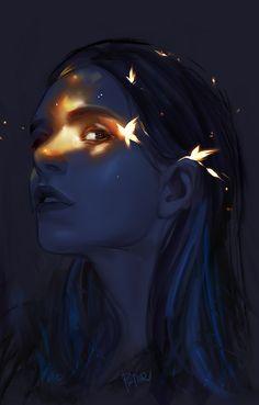 New Girl by on DeviantArt Arte Digital Fantasy, Digital Art Girl, Digital Portrait, Portrait Art, Foto Fantasy, Fantasy Art, Art Anime, Anime Art Girl, Cartoon Girl Drawing