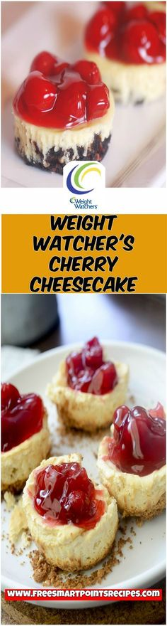 Weight Watcher's Cherry Cheesecake weight watchers recipes with points desserts, cool whip, healthy snacks, slow cooker chicken, cookies, cake, easy, sweets, pumpkin, crock pot, banana bread, apples, treats, breakfast ideas, lunches,