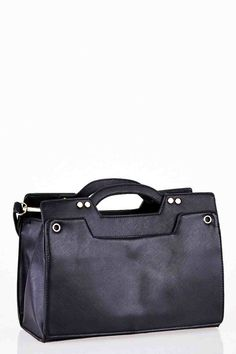 Black Mini Doctor Style Handbag.   This gorgeous classy doctor style handbag is perfect for work or school!   It has double faux leather handles, detachable shoulder strap, zip fastener,   completed with outer and inner compartments to store all your valuables!   Perfect to brighten up your outfit!   Only £16.99 Black Handbags, Leather Handle, Travel Style, Shoulder Strap, Zip, Classy, Store, Outfit, School