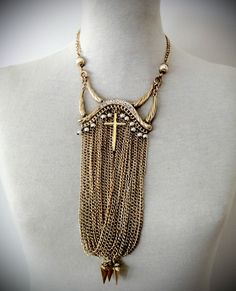 #Collar de cadenas - Línea Glam.