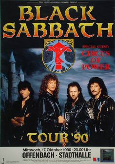 Black Sabbath Poster from Stadthalle Offenbach on 17 Oct 90