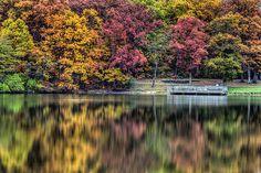 Autumn Reflections at Lemon Lake County Park.