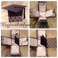 Explosion Box Photo Album - Graduation Exploding box by Keepsakesbystef on Etsy