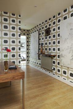 Shoji Wallpaper - Wabi Sabi Scion Wallcoverings Scion Fabric, Graphic Wallpaper, Retro Design,