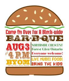 Hamburger BBQ Invitation Template royalty-free stock vector art