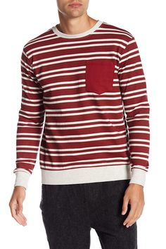 014d0c2261b Image of Soul Star Patch Pocket Stripe Crew Neck Pullover Mens Fall
