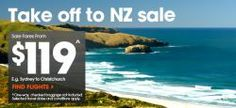 Jetstar is running a sale on flights to New Zealand with fares starting from $119 one way. Travel periods are in May/June and sale ends on 14th January #topbargains Flight Sale, New Zealand Flights, Sale On, January, Running, News, Travel, Racing, Trips