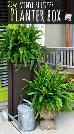 Discover How To Make The Best Outdoor Planter | Diva of DIY Cedar Planter Box, Wood Planter Box, Wood Planters, Outdoor Planters, Big Planters, Fall Planters, Succulent Planters, Vinyl Shutters, Diy Porch