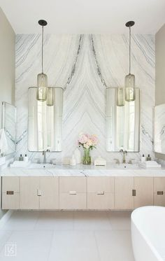 Luxury Bathroom Ideas is extremely important for your home. Whether you pick the Luxury Bathroom Master Baths With Fireplace or Luxury Bathroom Master Baths Bathtubs, you will create the best Luxury Master Bathroom Ideas Decor for your own life. Bad Inspiration, Bathroom Inspiration, Interior Inspiration, Home Design, Design Ideas, Design Trends, Bath Design, Layout Design, Bathroom Interior Design