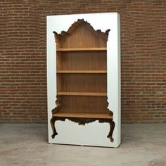 Inside Out Bookcase.  Clever