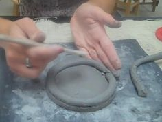 Clay with Miss Coen Coil Pot by Art Class with Ms. S.. For Elementary Level