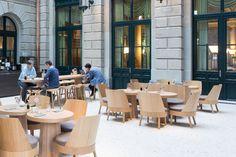 Sushi Sora, Zürich I I Houdini, Bess, Bessy (Design: Stefan Diez Office) Wooden Furniture, Outdoor Furniture Sets, Outdoor Decor, Sushi, Sora, Solid Wood, Design, Home Decor, Timber Furniture