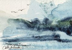 Surf 2  ACEO by CathyJohnsonArt on Etsy, $25.00