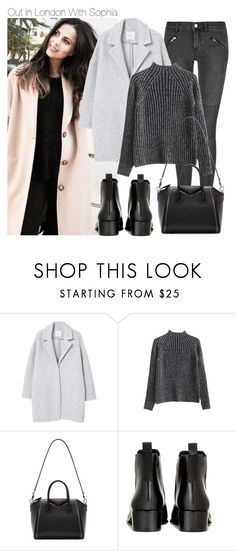 """""""Out In London With Sophia"""" by one-styles ❤ liked on Polyvore featuring BLK DNM, MANGO, Givenchy and Acne Studios"""