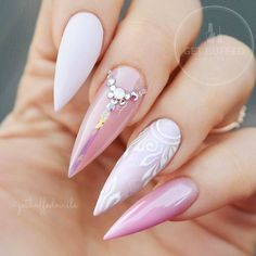 18 Acrylic Nails Ideas that You Can't Pass by ★ Stiletto Shape Acrylic Nails Picture 3 ★ See more: http://glaminati.com/acrylic-nails/ #acrylicnails #nailsdesigns