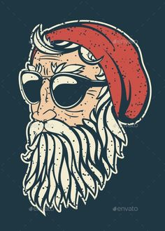 Find Trendy Hipster Santa Claus Vector Illustration stock images in HD and millions of other royalty-free stock photos, illustrations and vectors in the Shutterstock collection. Hipster Illustration, Illustration Art, Santa Claus Drawing, Santa Claus Vector, Beard Logo, How To Draw Santa, Beard Art, Hipster Art, Christmas Illustration