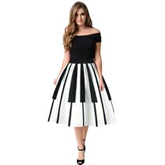 European and American Style Fashion 2017 girl skirt Women Piano Keys Printed Skirt High Waist Thin Skirt Fancy Pattern Skirt TW Jupe Swing, Swing Skirt, Party Skirt, Sexy Party Dress, Style Ethnique, Party Rock, Party Wear, Casual Summer Dresses, Summer Skirts