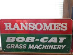 "Ransomes Bob Cat Grass Machinery 36"" x 18"" Sign Man Cave Garage Bar Den Decor #Ransomes"