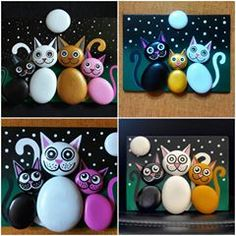 23 Clever DIY Christmas Decoration Ideas By Crafty Panda Stone Crafts, Rock Crafts, Fun Crafts, Diy And Crafts, Crafts For Kids, Arts And Crafts, Pebble Painting, Pebble Art, Stone Painting