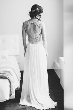 This dress is perfection: http://www.stylemepretty.com/2015/02/17/modern-black-white-chicago-wedding/ | Photography: T&S Hughes - http://www.tandshughesphotography.com/