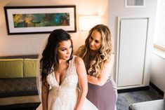Get ready with one or two people who mean the world to you.  #weddingideas #weddings #gettingready