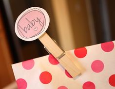 FREE printable favor tags, garland, food picks, and more! #babyshowerclipart