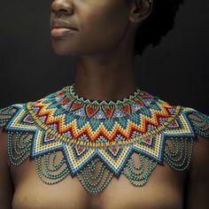 Beautiful African Women, Beautiful Dark Skinned Women, African Beauty, Beautiful Black Women, Black Women Art, African Necklace, African Jewelry, African Attire, African Wear
