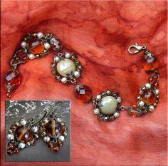 Make your own Art Deco Vintage Look Bracelet and Earrings  here http://www.etsy.com/listing/52779003/jewelry-tutorial-bracelet-diy-vintage
