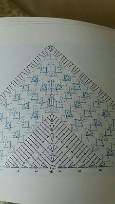 Best 12 Ravelry: Project Gallery for Virus Meets Granny Shawl pattern by Jinty Lyons – SkillOfKing. Crochet Shawl Diagram, Crochet Motifs, Crochet Poncho, Crochet Chart, Crochet Scarves, Crochet Clothes, Crochet Lace, Crochet Stitches, Knitting Patterns