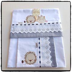 Jogo de lençol com 3 peças, a pronta entrega! Valor R$115,80. Pedidos por e-mail: babyquerenxoval@gm - babyquerenxoval