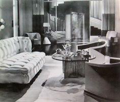 Cedric Gibbons Art Deco Set ~ 'Gentlemen of the Press' (Millard Webb, Designed by William Saulter. Tv Set Design, Art Deco Design, Muebles Art Deco, Vintage Interiors, Deco Interiors, Art Deco Furniture, Retro Furniture, Art Deco Fashion, Decoration